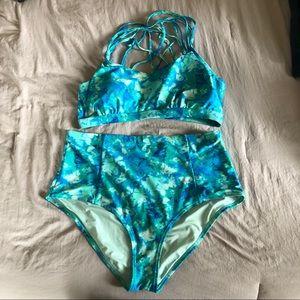 Plus Size Tie Dyed Bikini